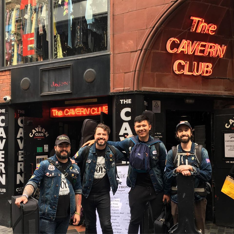 The Nowhere Boys in The Cavern Club, Liverpool, England. 2019